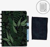 GreenBook Whiteboard Notebook A5 Lijn Forest Green met doekje