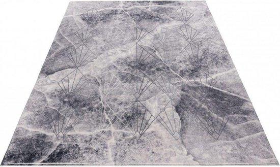 Grijs Tapijt Laagpolig Vloerkleed - Omid Faded Clouds - 160x230cm- Modern - Woonkamer - Salon - Slaapkamer - Eetkamer