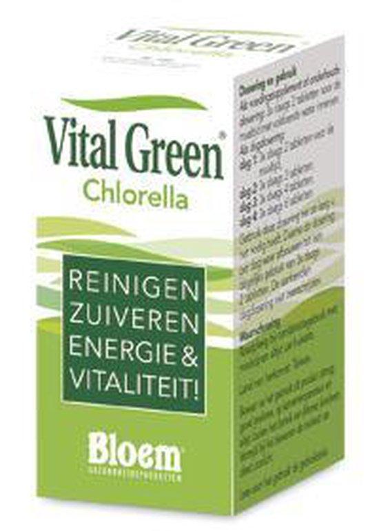 Bloem Vital Green Chlorella - 1000 Tabletten - Voedingssupplement
