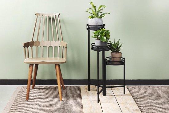 Bol Com Lifa Living Moderne Plantenbak 3 Delig Zwarte Plantenhouder Uitschuifbare