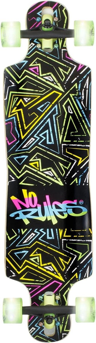 Muuwmi Longboard No Rules 22 X 83 Cm Hout Zwart