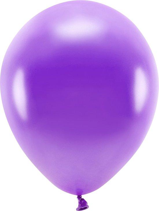100x Paarse ballonnen 26 cm eco/biologisch afbreekbaar - Milieuvriendelijke ballonnen - Feestversiering/feestdecoratie - Paars thema - Themafeest versiering