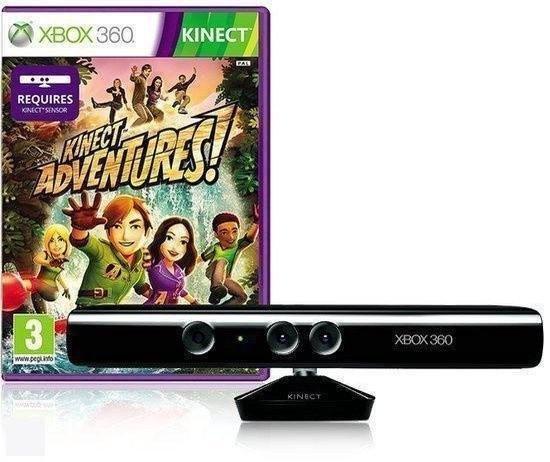 Xbox 360 Kinect sensor + Kinect Adventures
