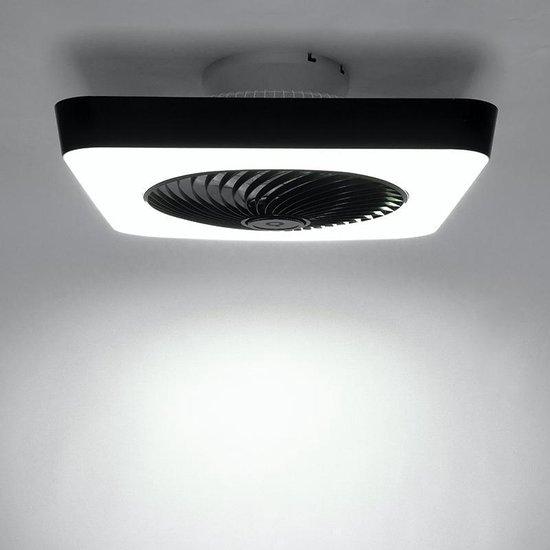 climo - Plafondventilator met lamp - 1 lichts - L 55 cm - Zwart