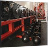 Dibond –Sportartikelen– 80x80 Foto op Aluminium (Wanddecoratie van metaal)
