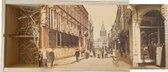 Wijnkist - Oud Stadsgezicht Nijmegen - Stadhuis en Grote Markt - Oude Foto Print op Houten Kist - 19x36 cm