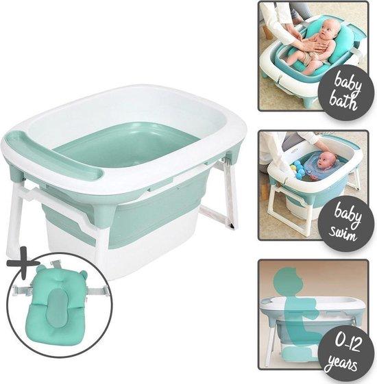 Product: Baninni 3-in-1 opvouwbaar Bagno babybadje - inclusief badkussen - Groen, van het merk Baninni