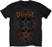 Bullet For My Valentine Heren Tshirt -XL- Winged Skull Zwart