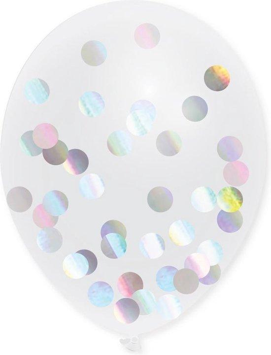 Confetti Ballonnen Holografisch - 5 stuks