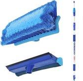 Proplus Wasborstel Heavy Duty - Met Telescopische Steel - 3 Meter - Blauw
