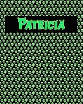120 Page Handwriting Practice Book with Green Alien Cover Patricia