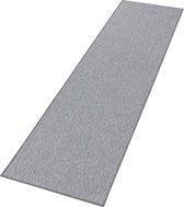 Effen loper Casual - grijs 80x200 cm
