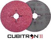 Cubitron 3M II Fiber schuurschijf 982C K60 125x22mm 25 stuks