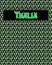120 Page Handwriting Practice Book with Green Alien Cover Thalia