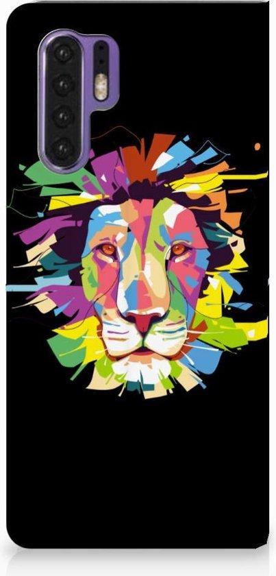 Huawei P30 Pro Uniek Standcase Hoesje Lion Color