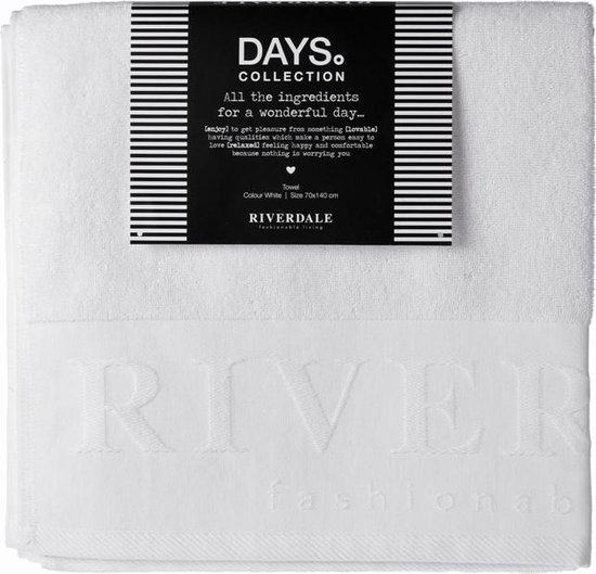 Riverdale Badhanddoek Days - Wit- 140 cm
