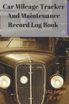 Car Mileage Tracker and Maintenance Record Log Book