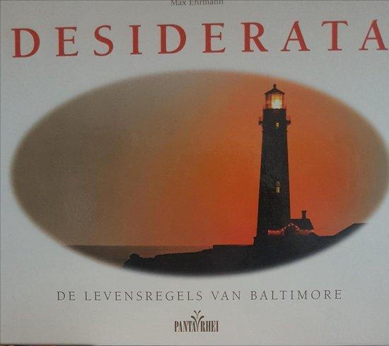DESIDERATA LEVENSREGELS VAN BALTIMORE - M. Ehrmann | Fthsonline.com