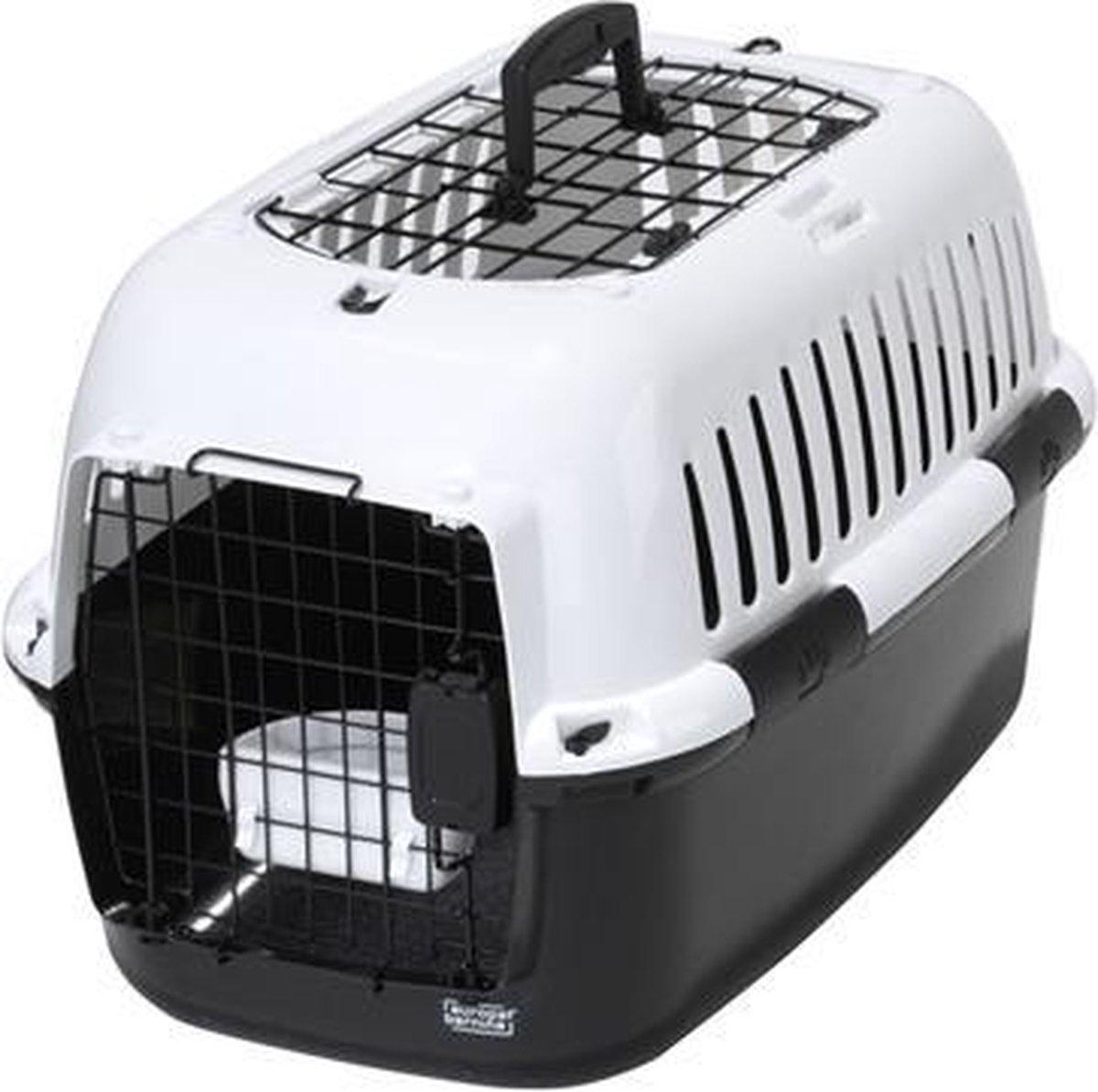 Ebi Adventurer 60 charcoal reismand - kleine hond of kat - Zwart/Wit - 57 x 38 x 38cm
