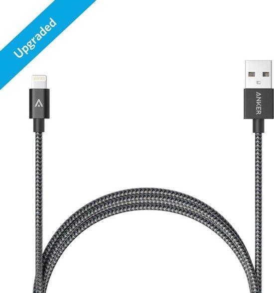 Anker Nylon Lightning Kabel MFI 1.8m - Grijs - Anker