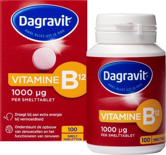 Dagravit Vitamine B12 1000 mcg - Multivitamine - Fruitsmaak - 100 tabletten