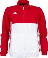 adidas T16 Team Jacket Dames - Bordeaux / Wit - maat M