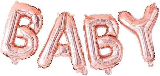 Folieballon Baby - Rosé Goud - Baby - Meisje - Jongen - Geboorte - Ballon - Gender Reveal - Babyshower