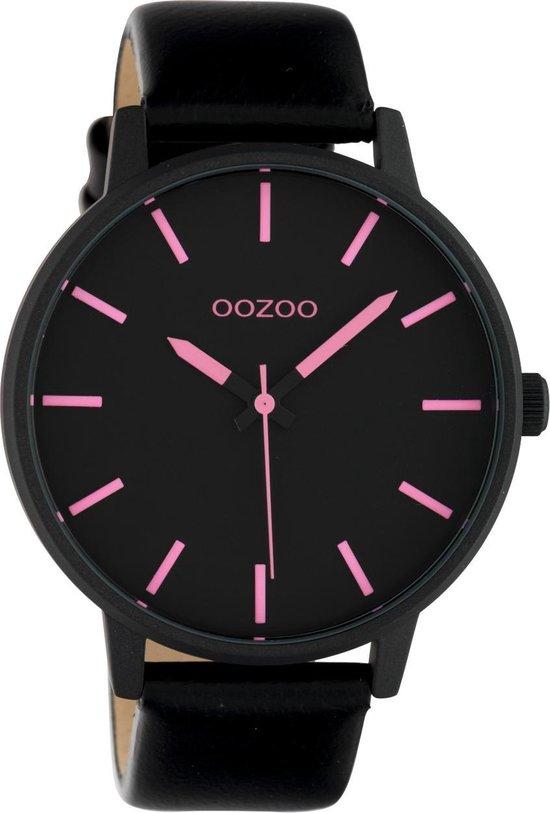 OOZOO Timepieces Zwart/Roze horloge C10383 (45 mm)