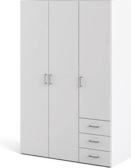 Tvilum Spell Kledingkast - 175.4 cm - Wit - 3 deuren, 3 lades
