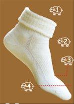 Eureka zachte merino wollen sokken S9 - unisex - ecru - maat 39-42