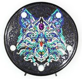 Diamond Painting Decoratieschaal - Wolf - met LED Verlichting - Maak Je Eigen Decoratieschaal
