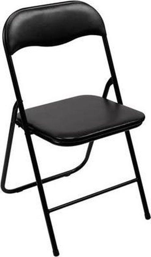 Perel - Vouwstoel inklapbaar - Zwart