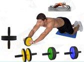 AA Commerce Trainingswiel - met mat - fitness roller