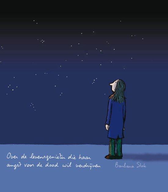 Cover van het boek 'Over de levensgenieter die haar angst voor de dood wil verdrijven'