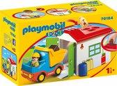 PLAYMOBIL 1.2.3 Werkman met sorteer-garage - 70184