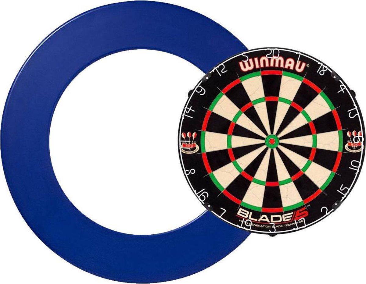 Winmau Blade 5 - Dartbord surround - dartbord - surround blauw