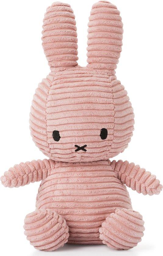 nijntje Corduroy knuffel roze - 23 cm - 9