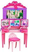 Barbie 2 in 1 Kaptafel Speelset