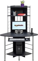 Piranha OSCAR Hoekbureau / Computerbureau - Antraciet - Zwart - Compact - PC 8g