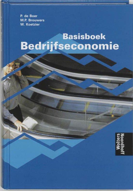 Boek cover Basisboek Bedrijfseconomie van Rien Brouwers (Hardcover)