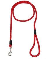 Rosewood Hondenriem Touw Rood / Zwart - 162 CM