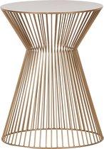 WOOOD Suus Bijzettafel - Metaal - Goud - 46x35x35