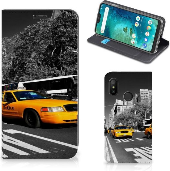 Xiaomi Mi A2 Lite Book Cover New York Taxi