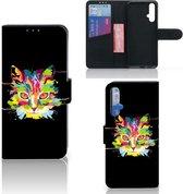 Huawei Nova 5T   Honor 20 Leuk Hoesje Cat Color