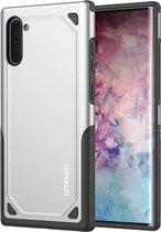 LUXWALLET® Samsung Note 10 Case - Desert Armor Drop Proof Hoes - Metallic Silver