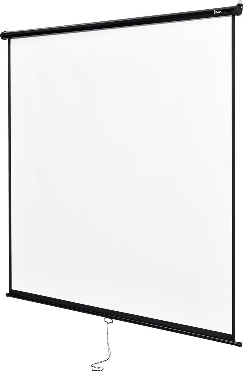 """""""Projectiescherm wit en zwart 203x203 cm 113"""""""""""""""