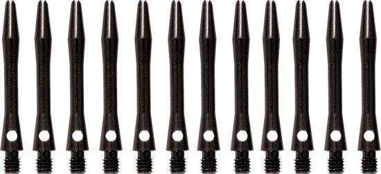 abcdarts darts shafts aluminium shaft zwart in between - 4 sets darts shafts