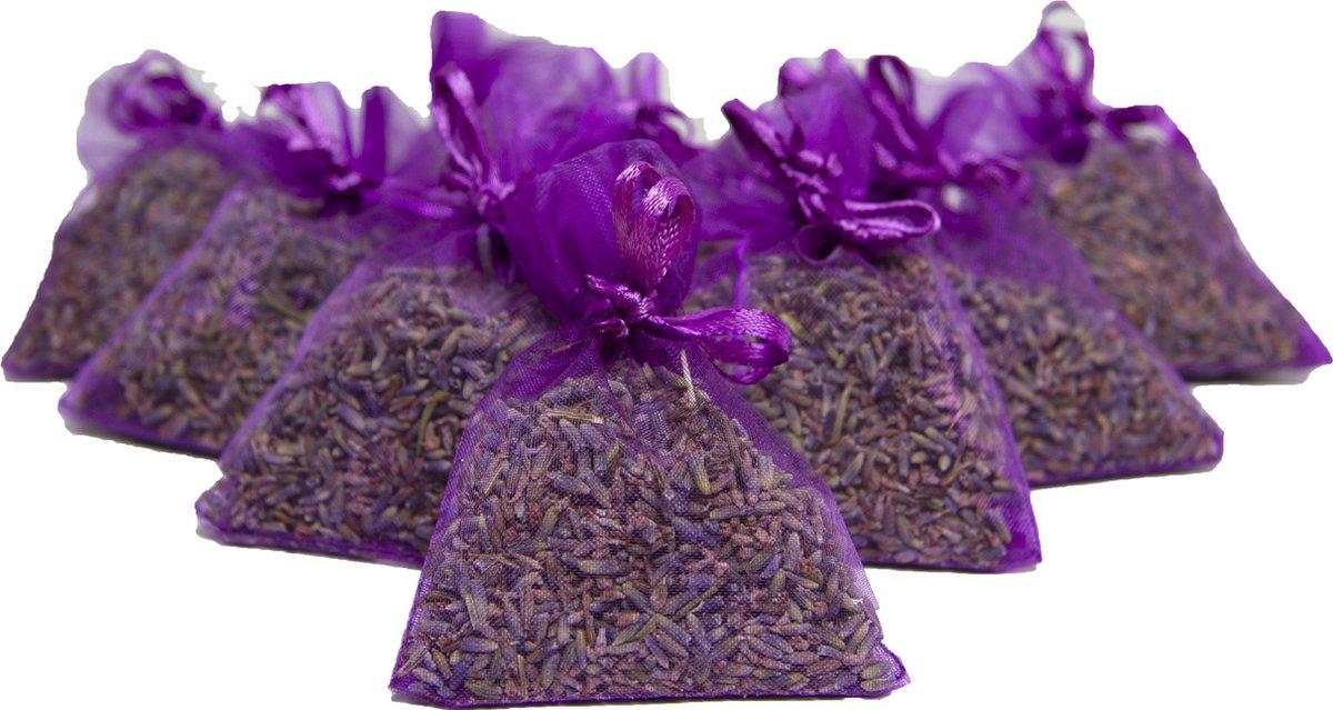 Bio scents Franse Lavendel geur zakjes 10 stuks paars - biologisch
