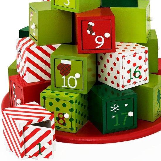 Adventskalender - Houten Kerstkalender - doosjes