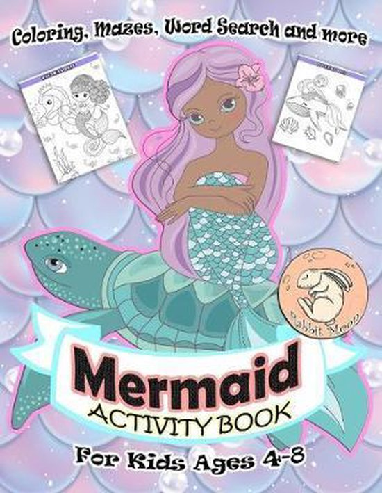Mermaid Activity Book for Kids Ages 4-8: A Fun Kid Workbook Game For Learning, Coloring, Mazes, Word Search and More!
